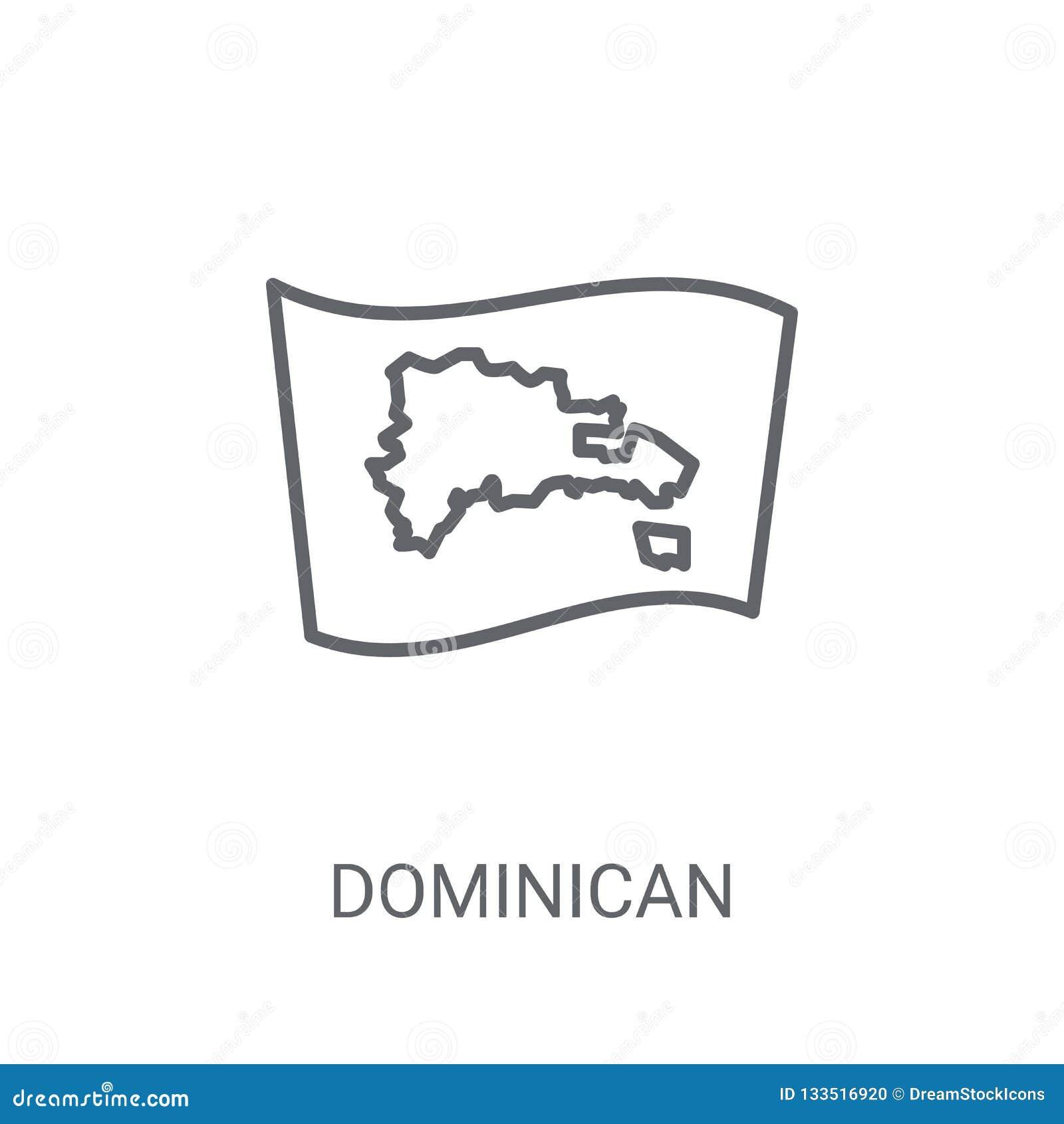 Graphisme d indicateur de la république dominicaine Rondin à la mode de drapeau de la République Dominicaine