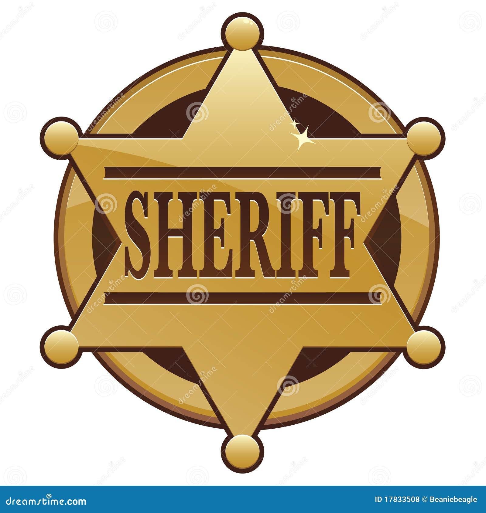 Graphisme d insigne de shérif