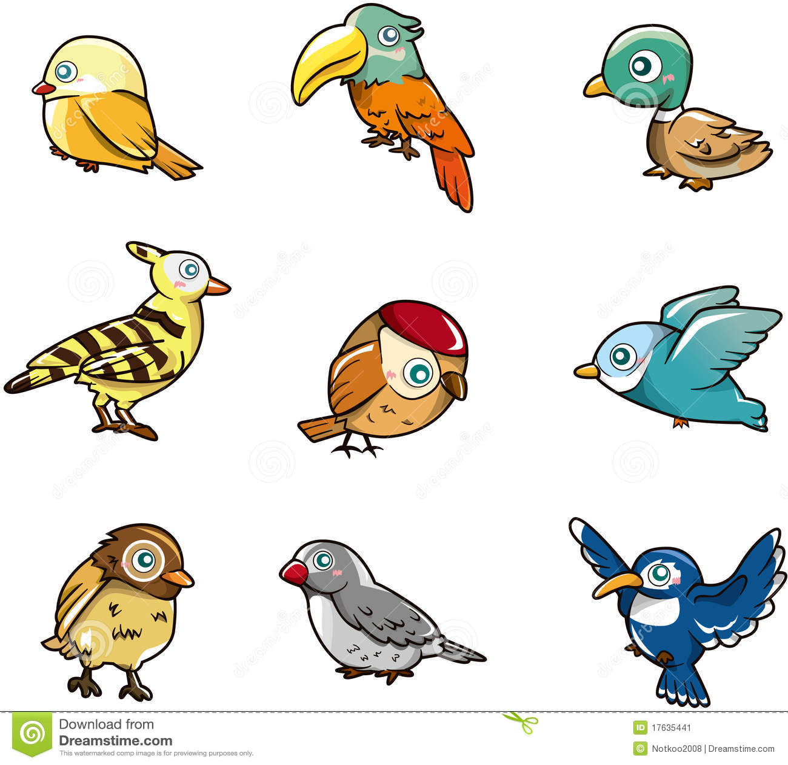 Graphisme d 39 oiseau de dessin anim image stock image 17635441 - Image oiseau dessin ...