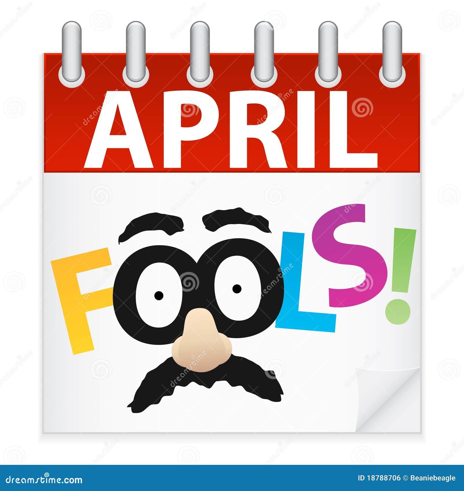 Graphisme de calendrier de jour d imbéciles d avril