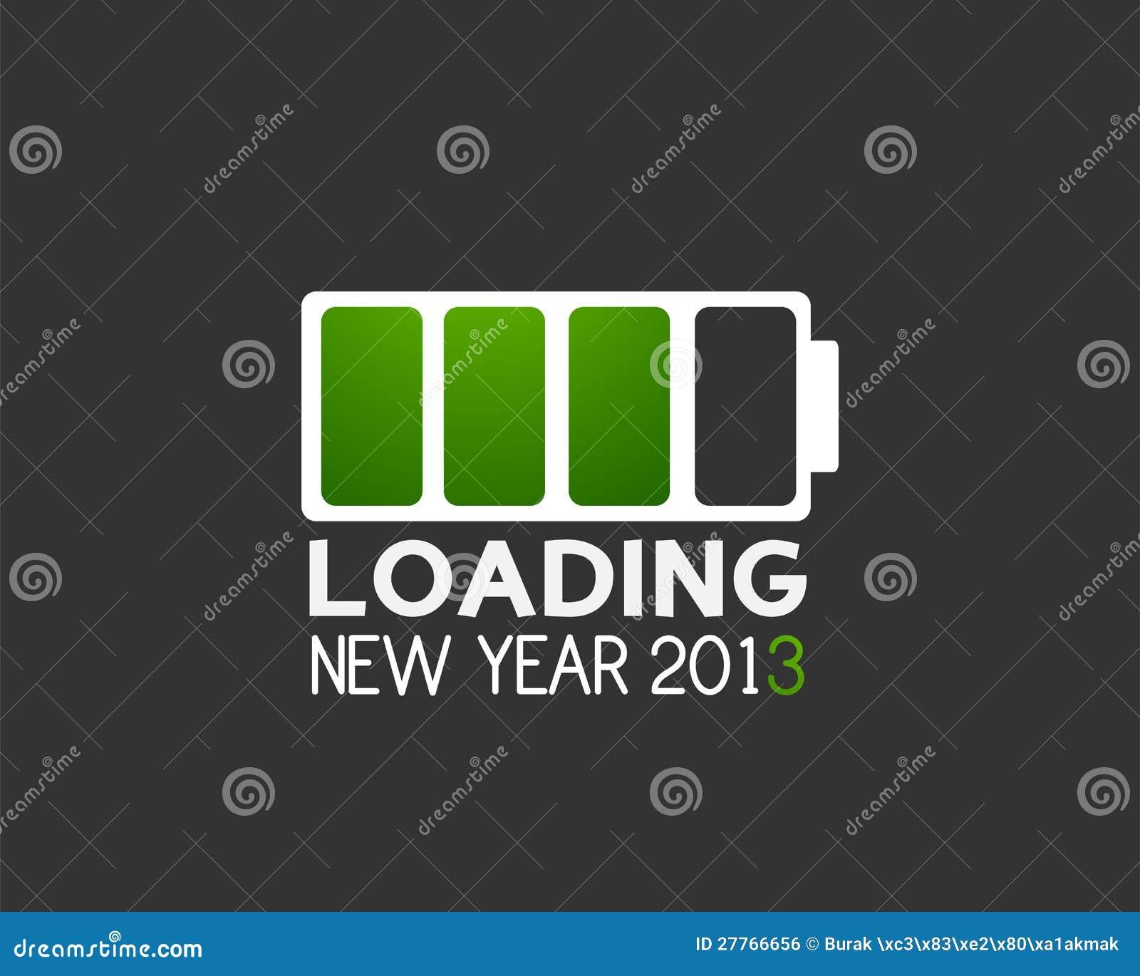 Graphisme de charge de batterie de l an 2013 neuf