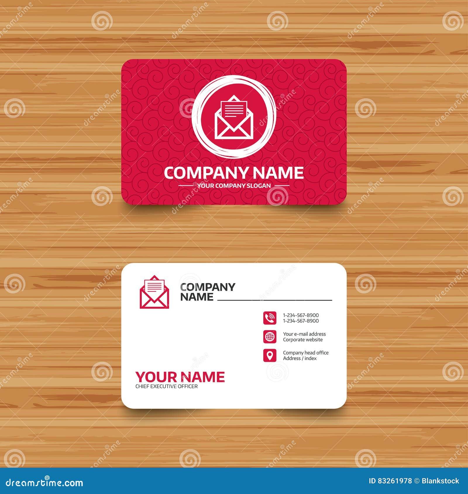 Graphisme de courrier Symbole d enveloppe Signe de message