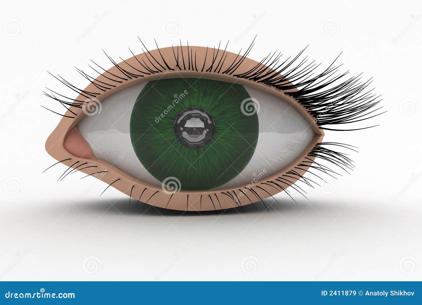Graphisme de l oeil 3D