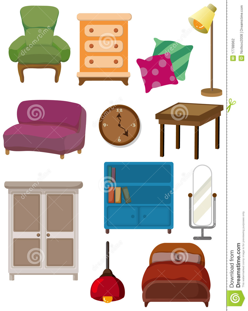 graphisme de meubles de dessin anim photographie stock image 17788962. Black Bedroom Furniture Sets. Home Design Ideas