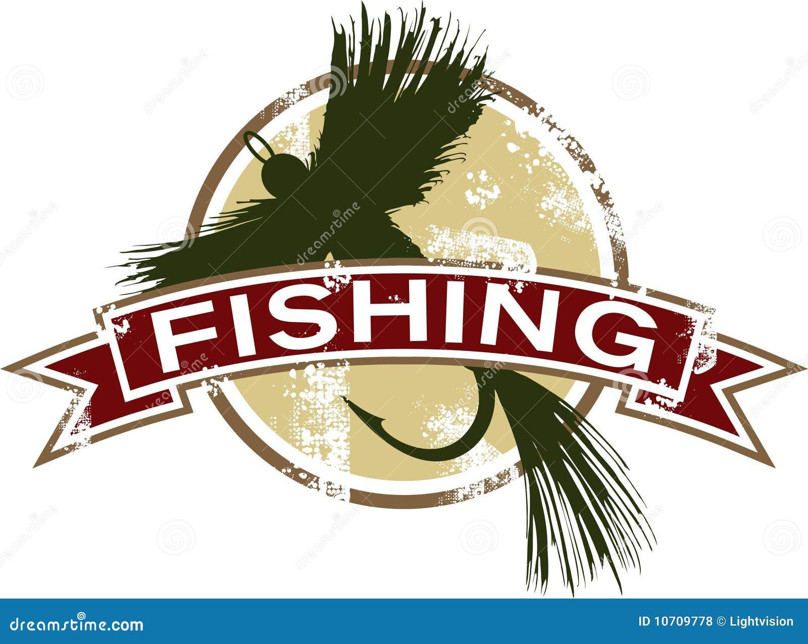 Graphisme de pêche de cru