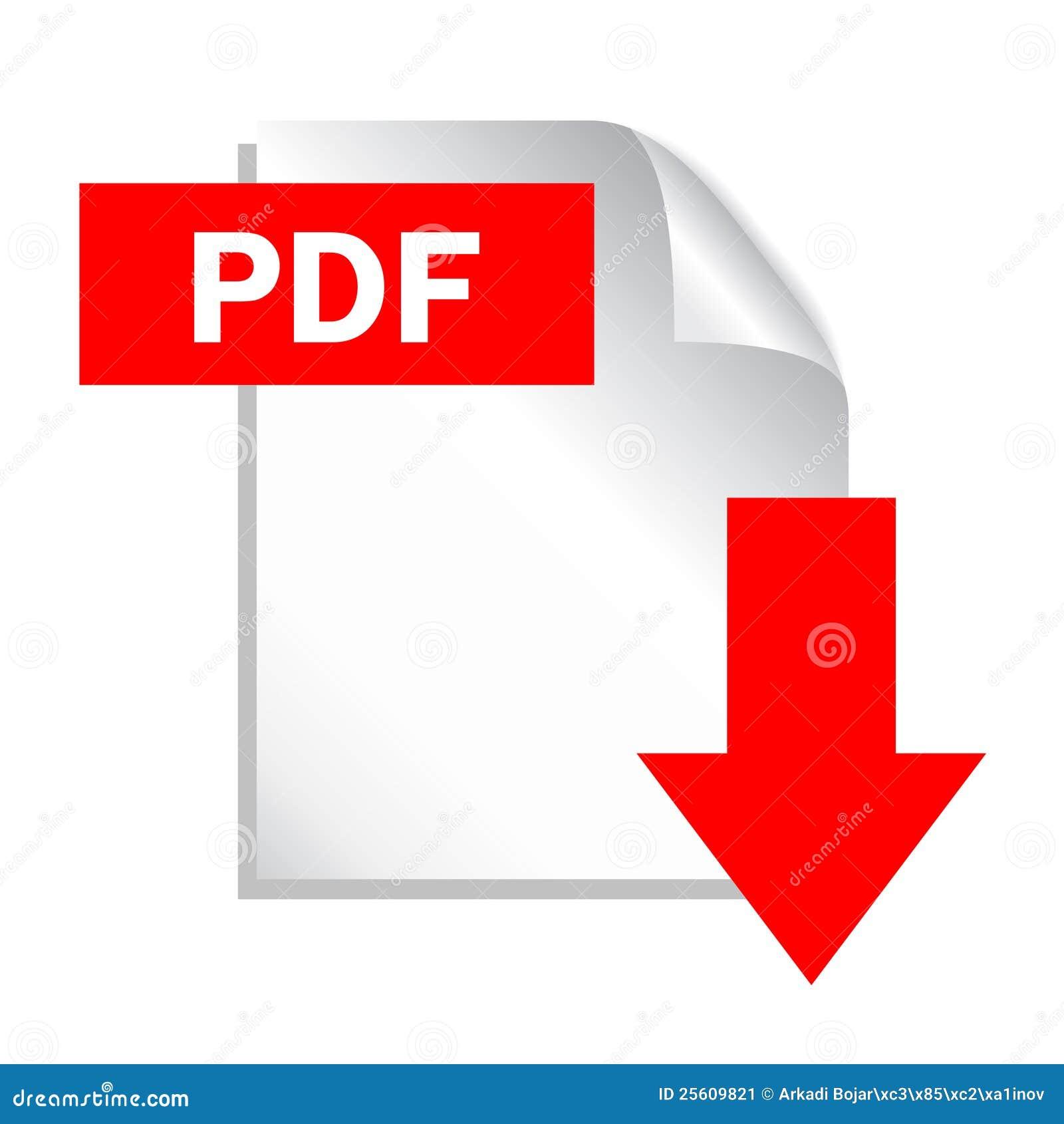 Graphisme de téléchargement de fichier de pdf
