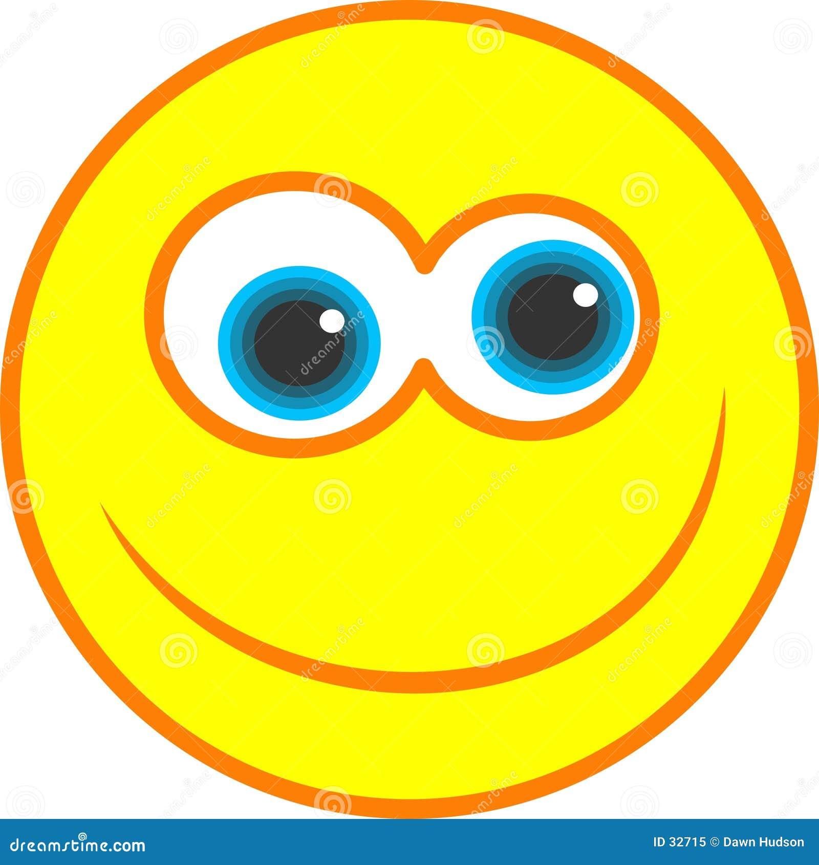 Graphisme souriant heureux
