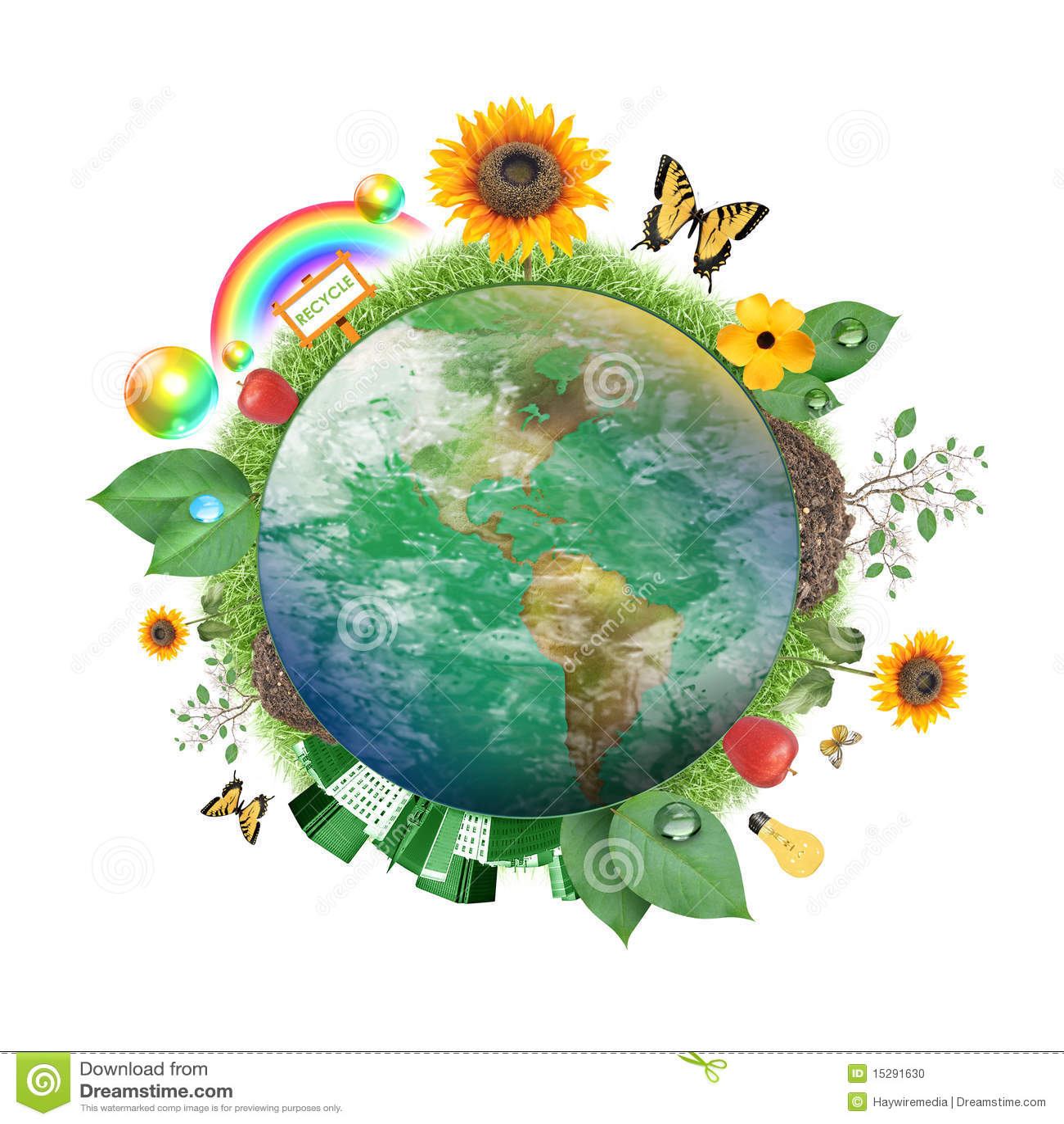 Graphisme vert de la terre de nature