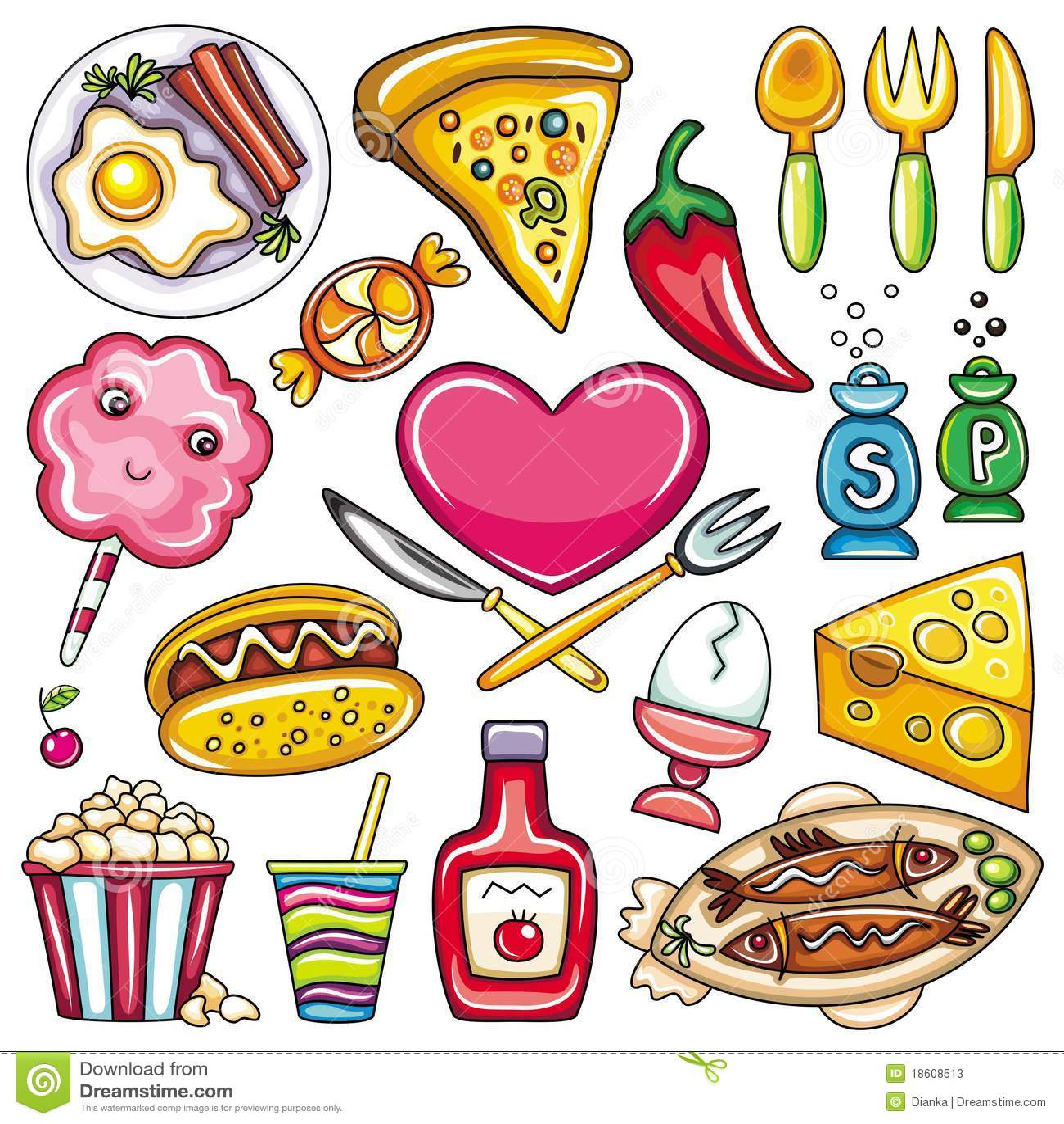 Graphismes 2 de nourriture