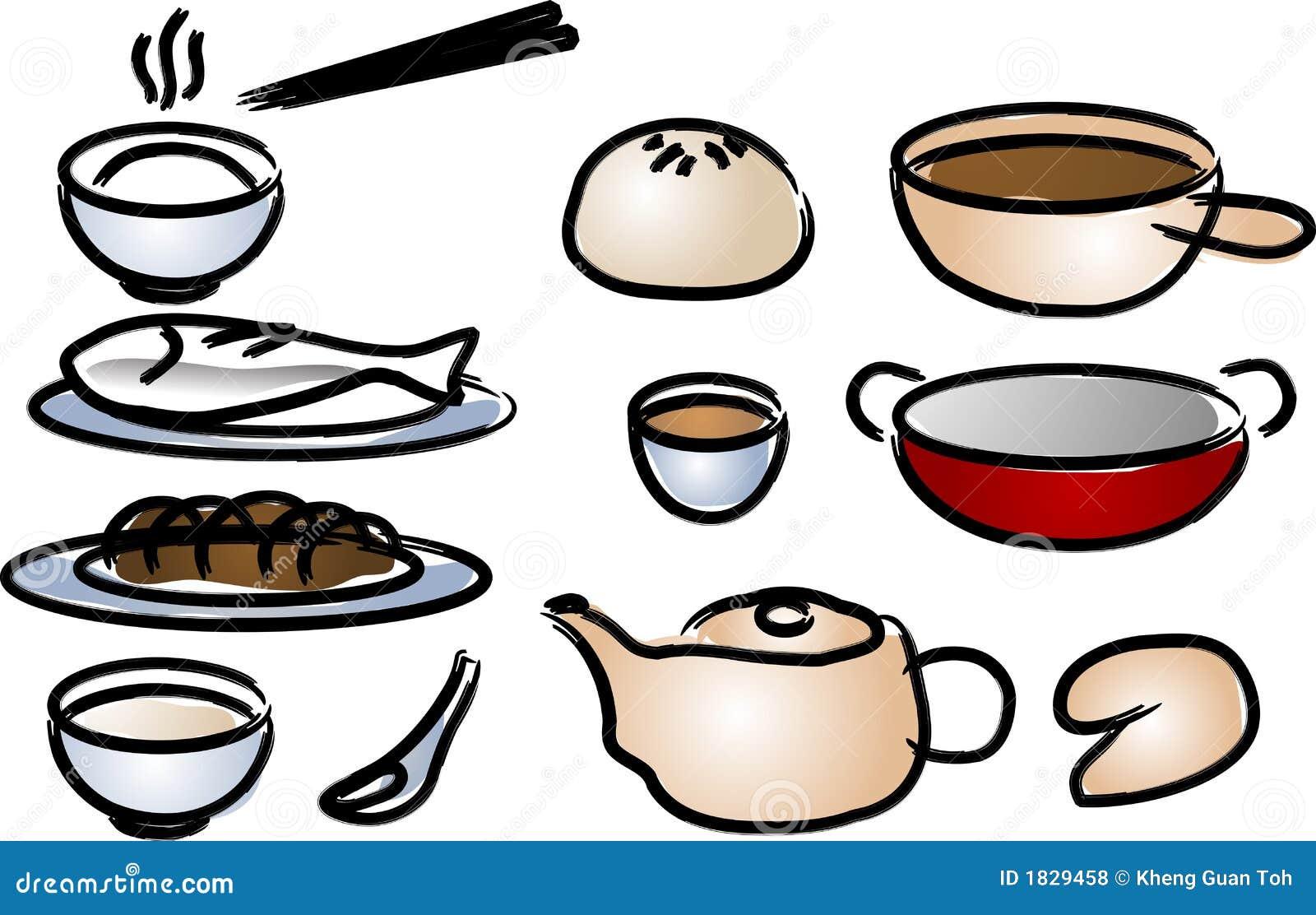 graphismes chinois de cuisine illustration de vecteur illustration du balai porcelaine 1829458. Black Bedroom Furniture Sets. Home Design Ideas