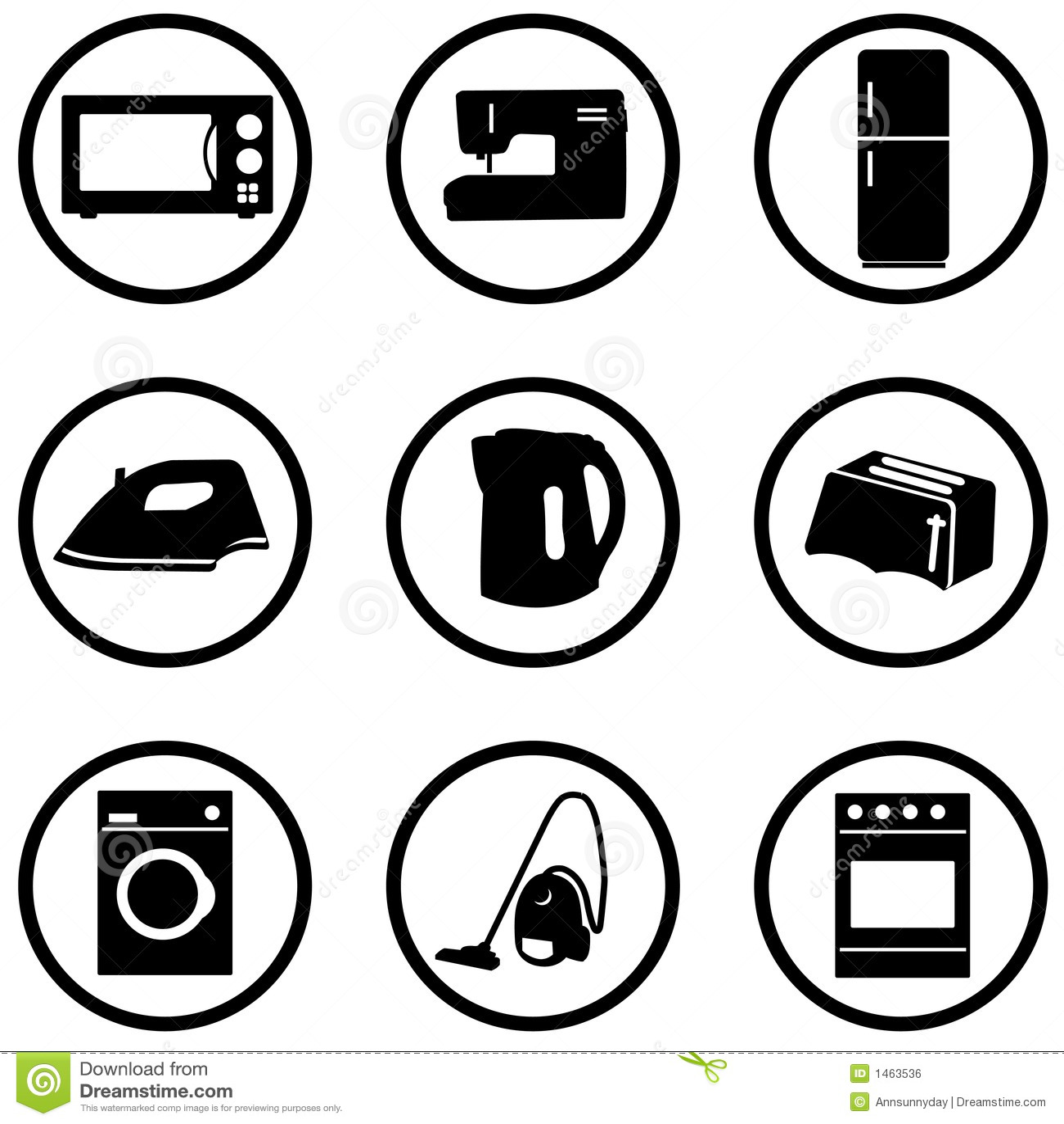 graphismes d 39 appareil m nager r gl s image libre de droits image 1463536. Black Bedroom Furniture Sets. Home Design Ideas