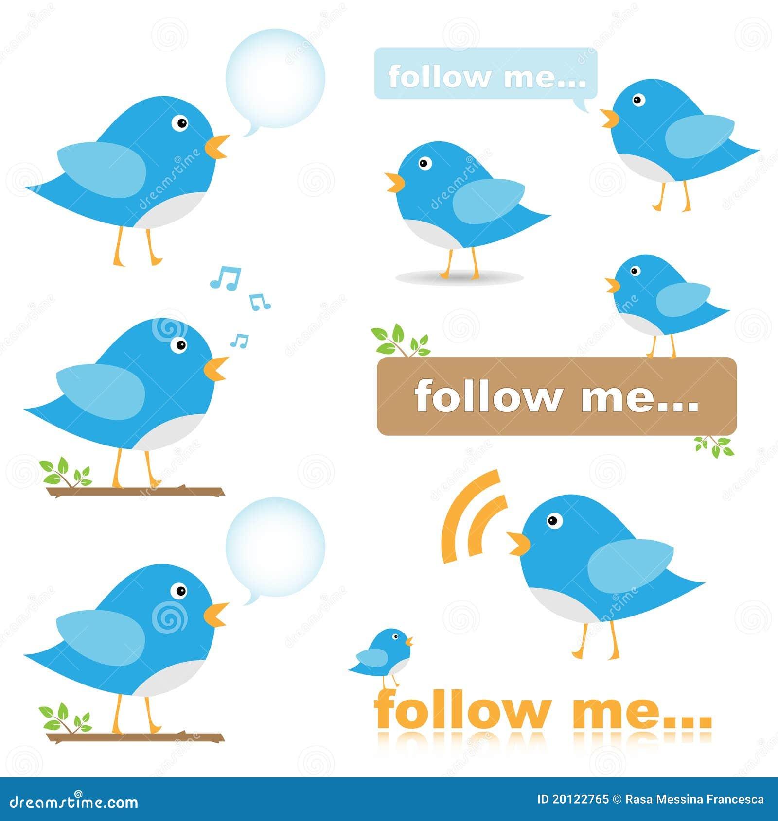 Graphismes d oiseau de Twitter