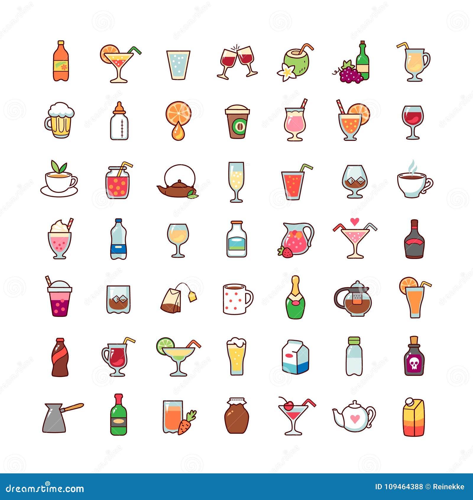 Graphismes de boissons réglés