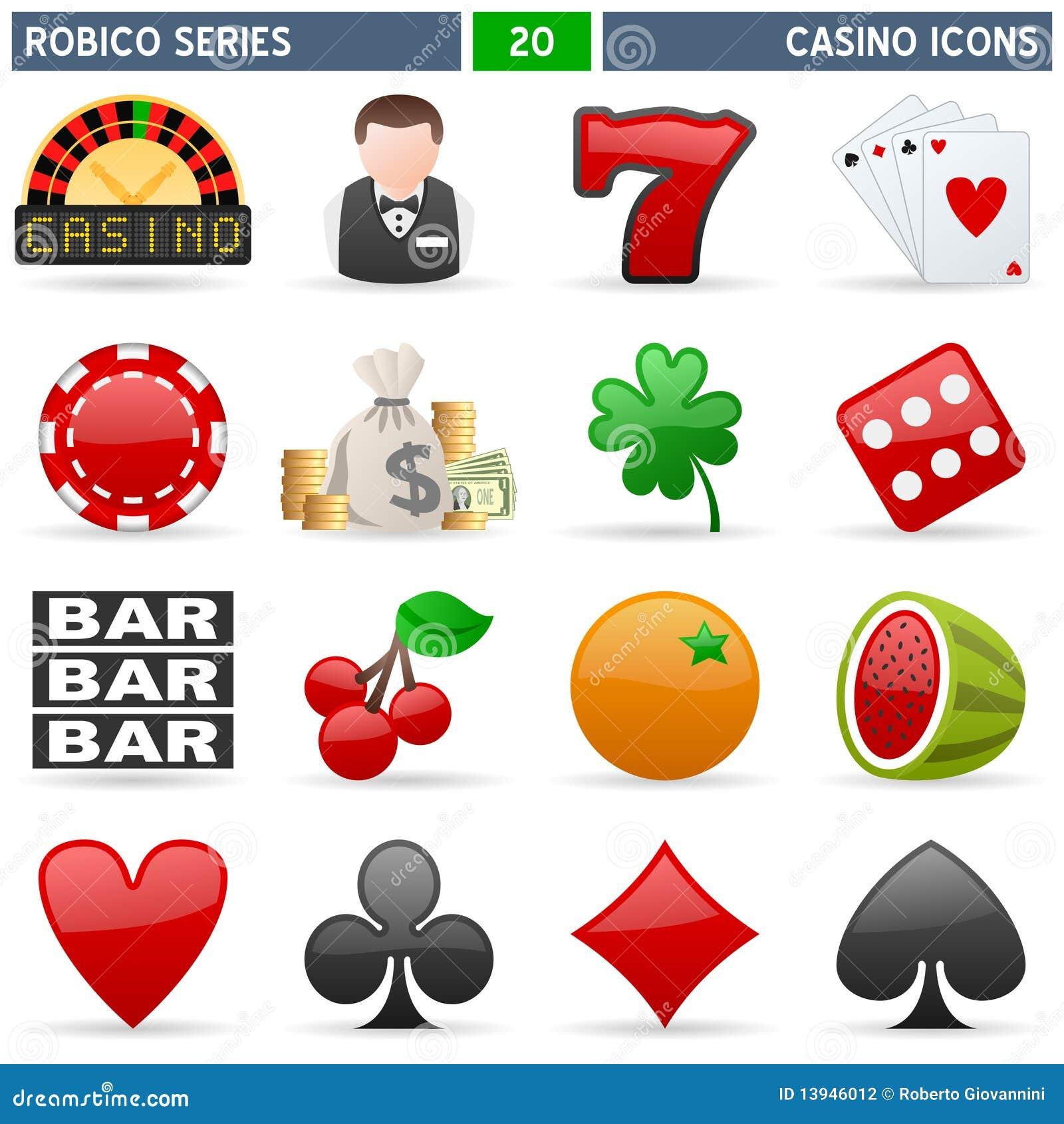 Graphismes de casino - série de Robico