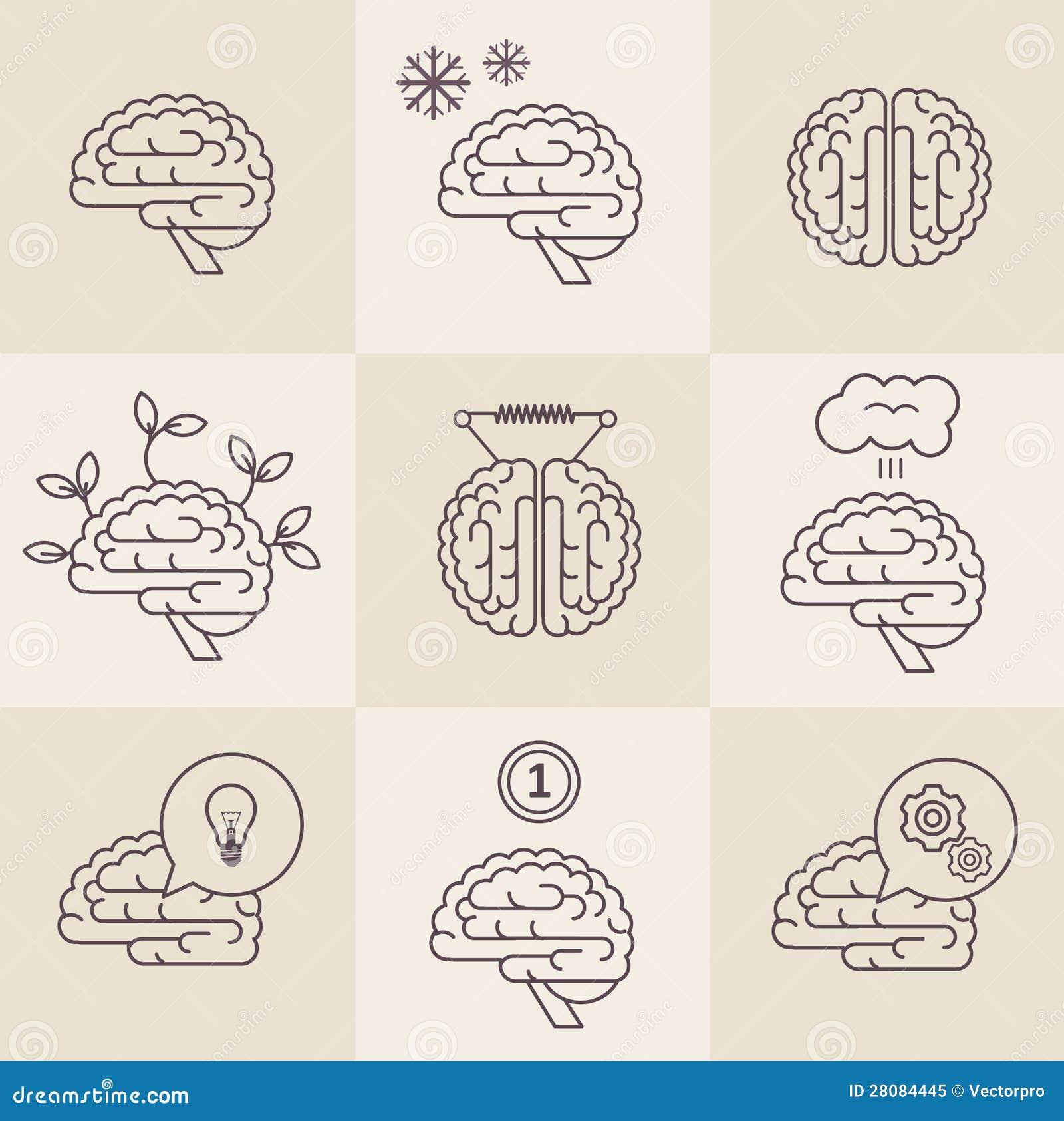 Graphismes de cerveau