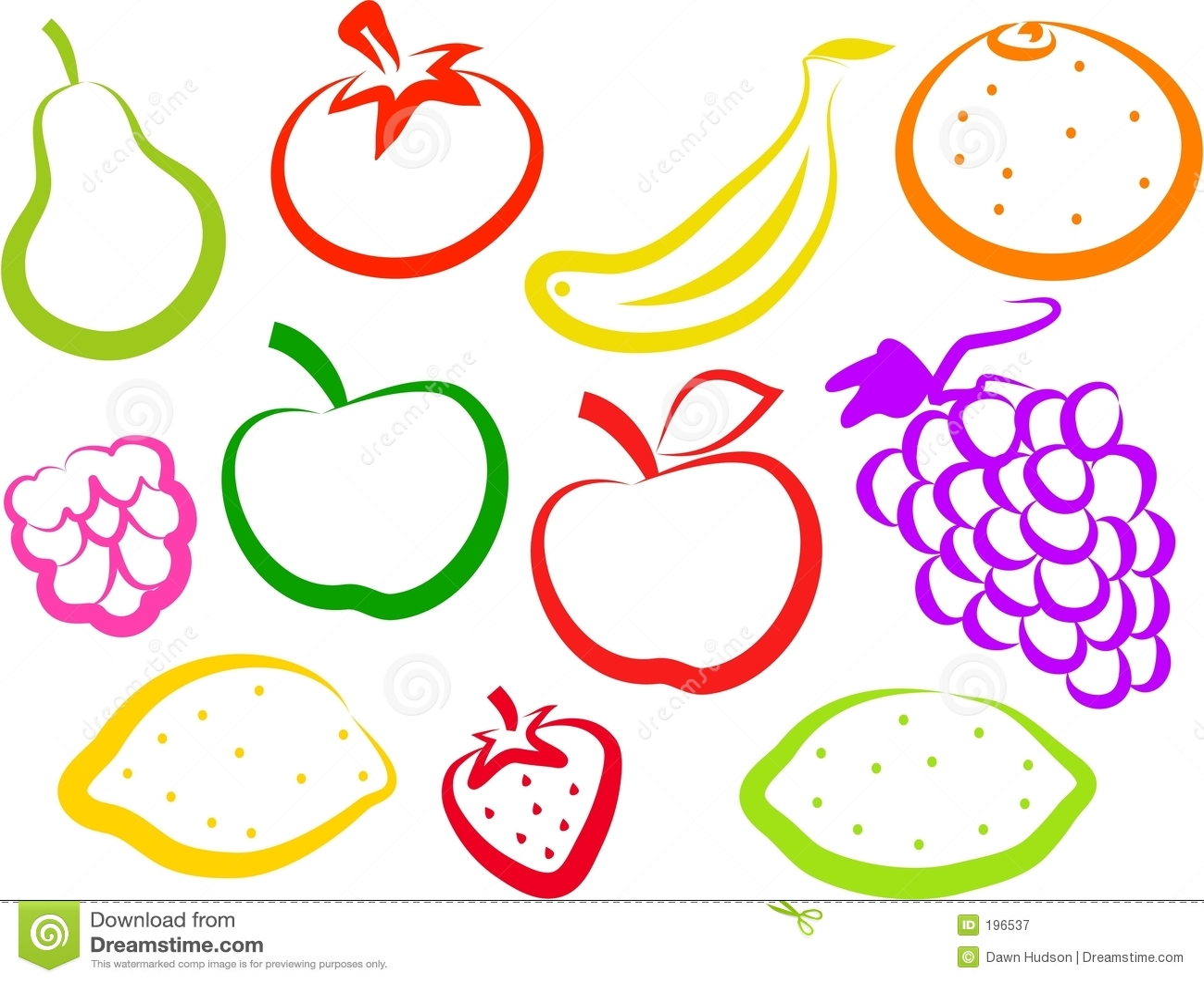 Graphismes de fruit