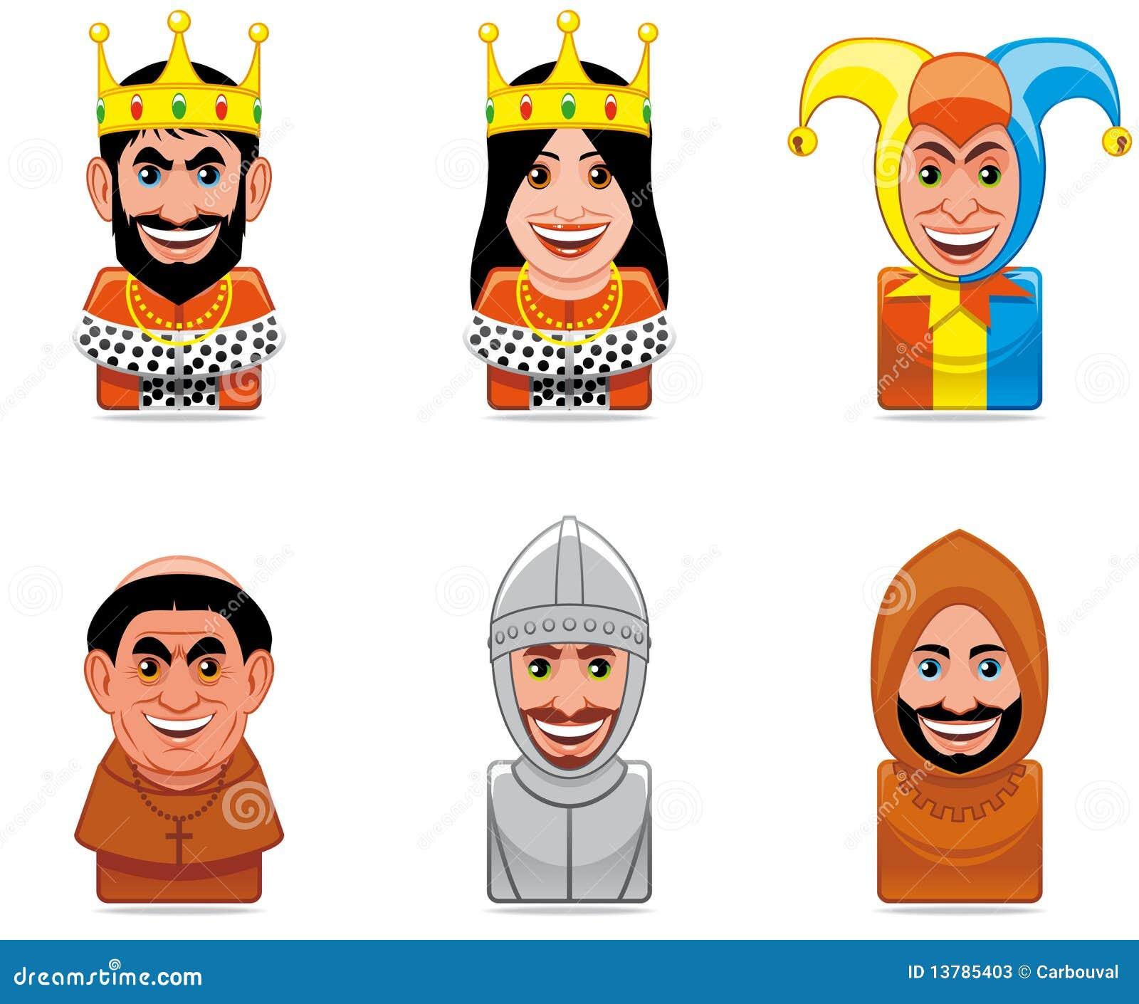 Graphismes de gens de dessin animé (Moyens Âges)