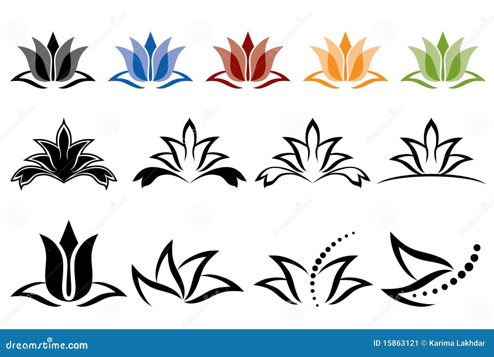 Graphismes de lotus image stock image 15863121 - Fleur de lotus symbole ...