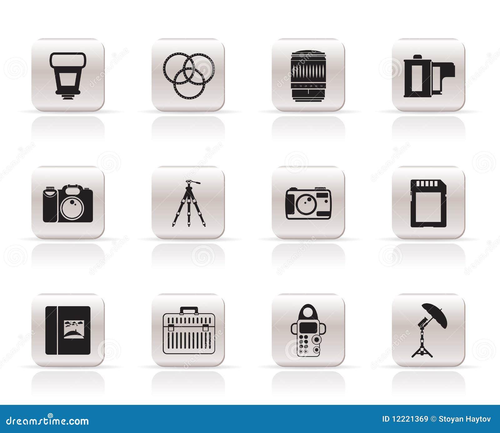 Graphismes de matériel de photographie