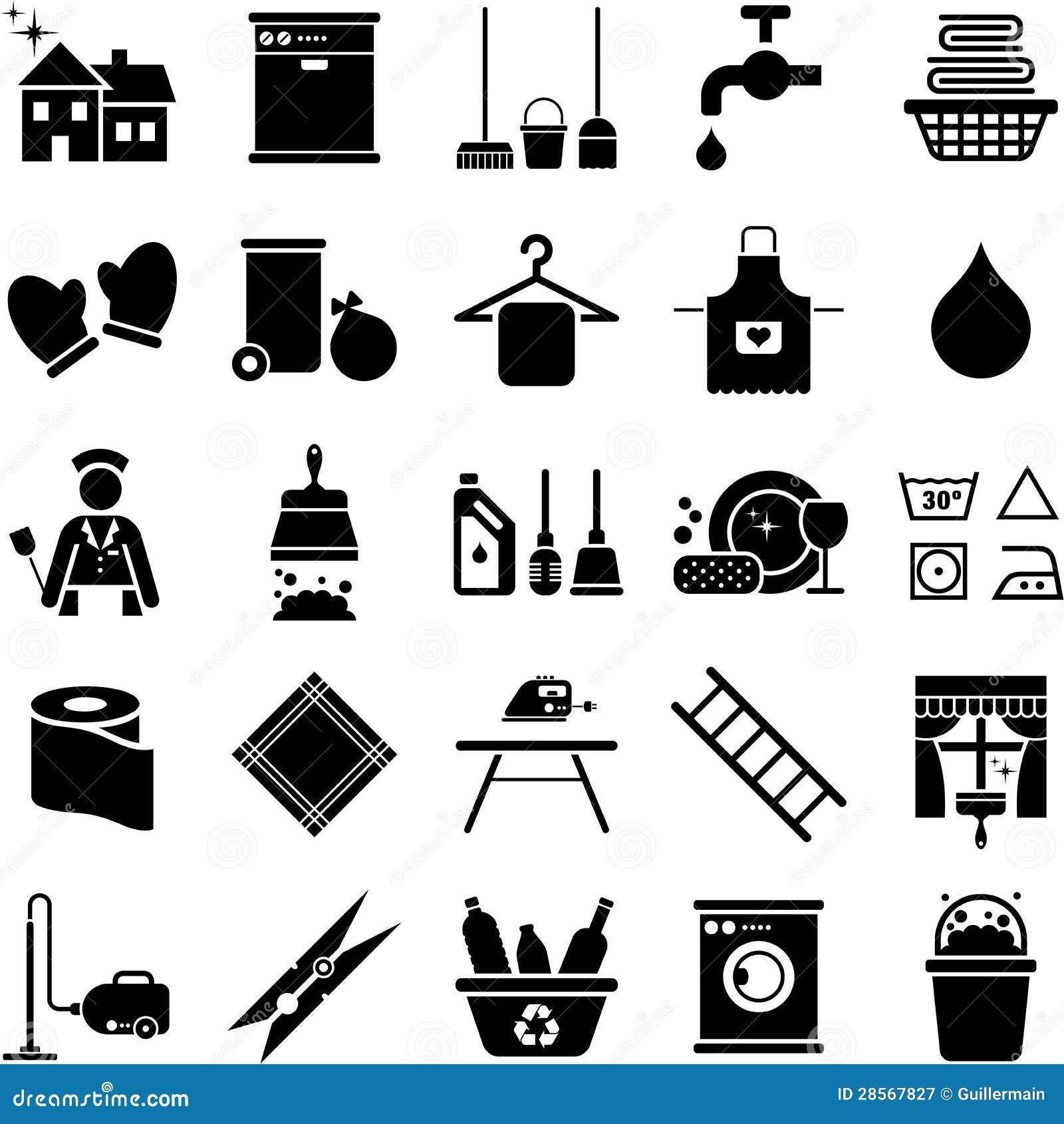 Graphismes de nettoyage de Chambre