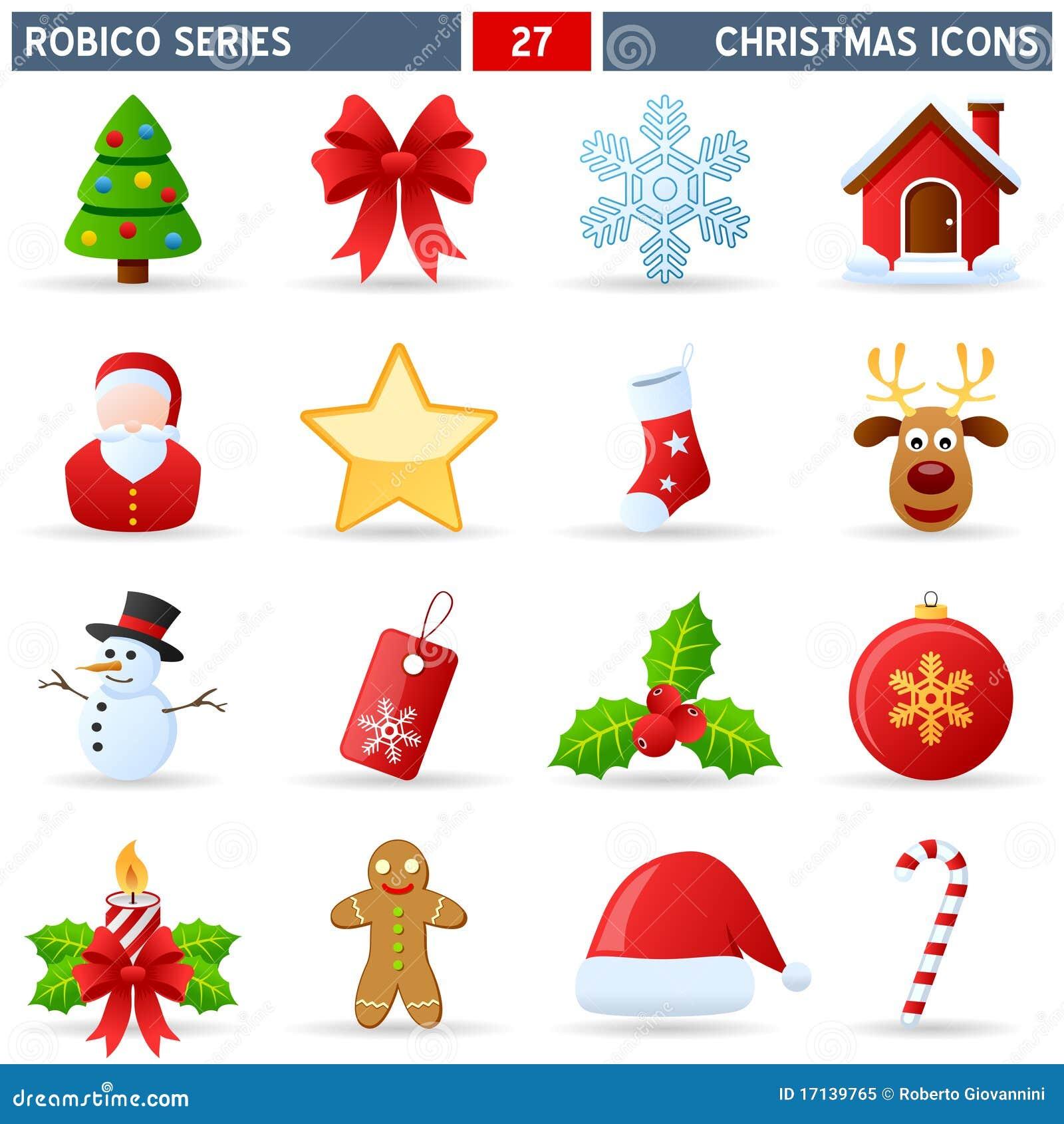 Graphismes de Noël - série de Robico