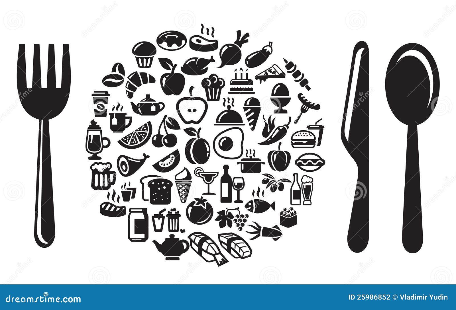 Graphismes de nourriture et de boissons réglés