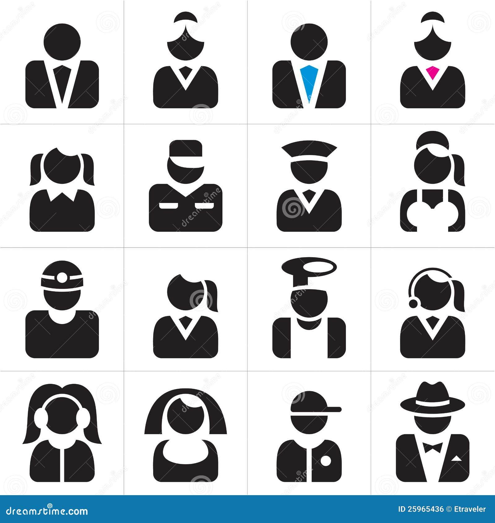 Graphismes de professions réglés
