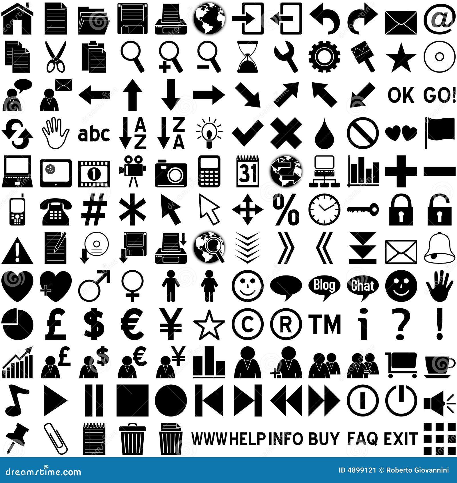 Graphismes de Web - noir sur le blanc
