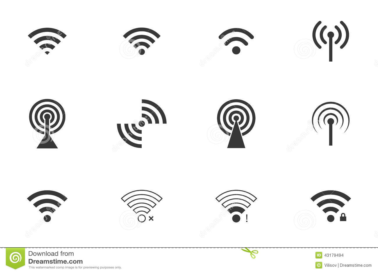 Graphismes de Wifi