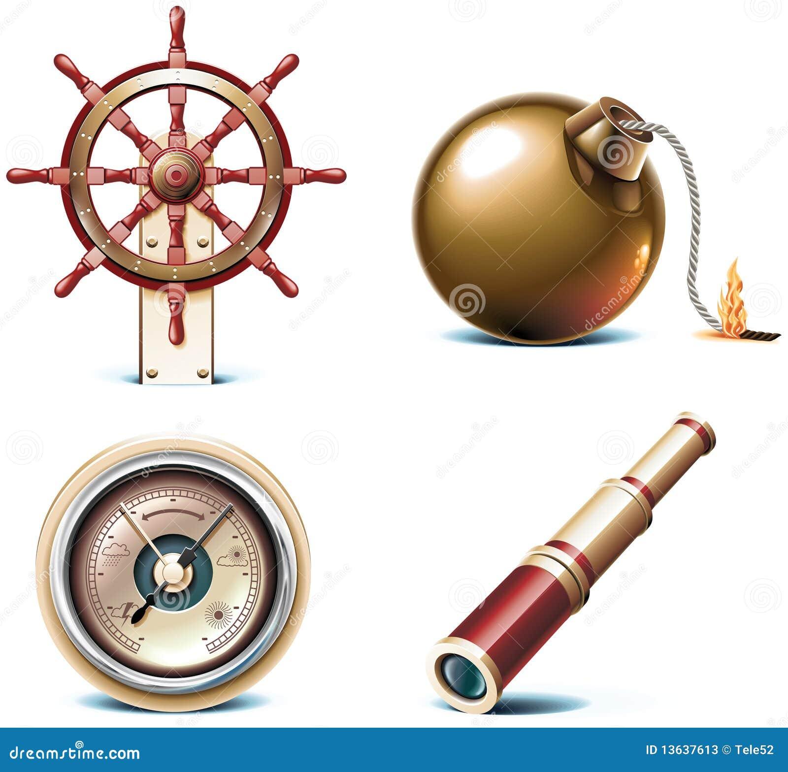 Graphismes marins de course de vecteur. Partie