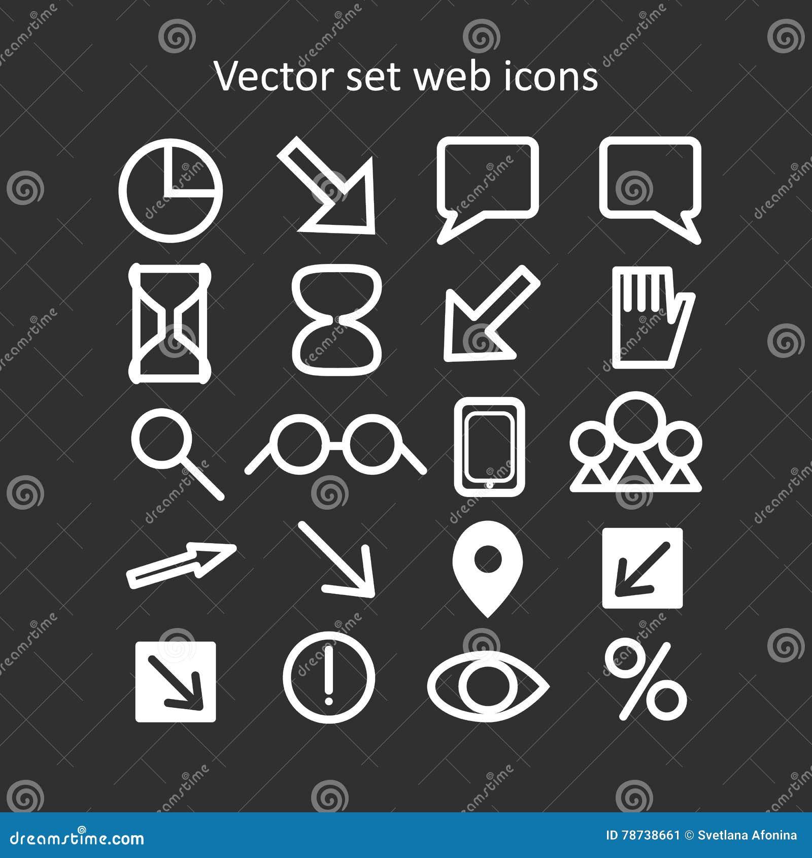 Graphismes réglés de Web de vecteur