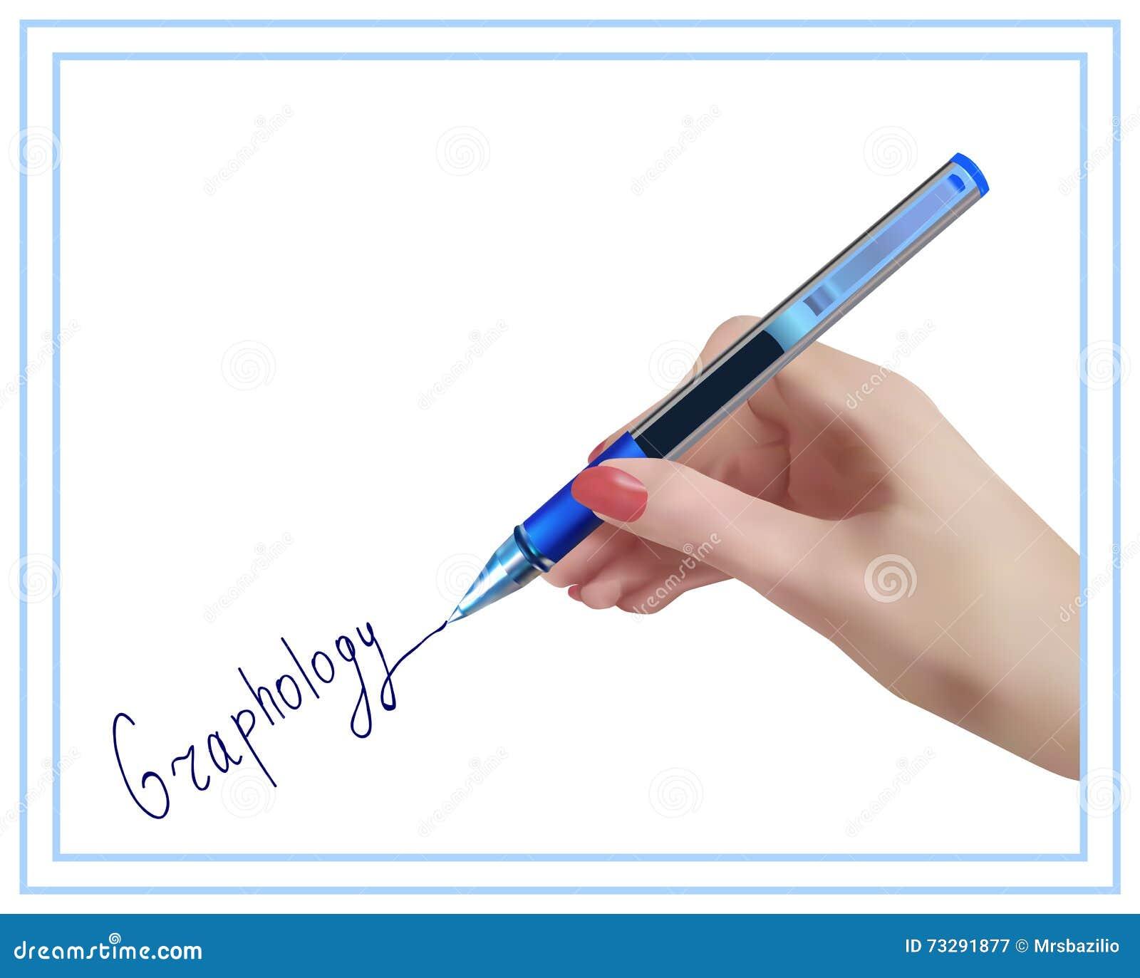 Graphology. Handwriting studying.