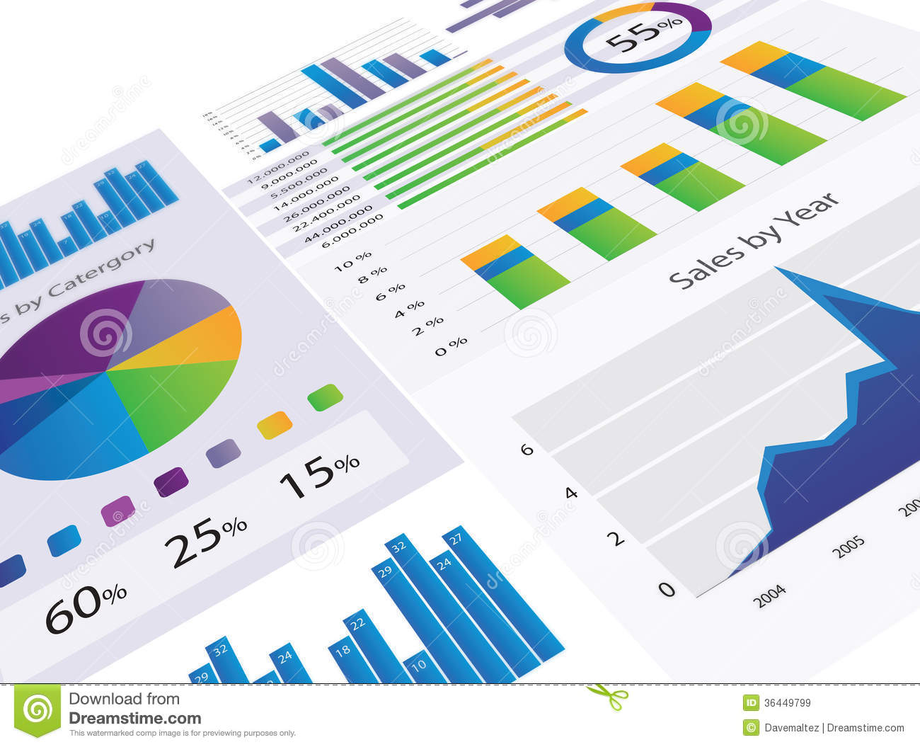 Graphs And Charts Royalty Free Stock Photo - Image: 36449775