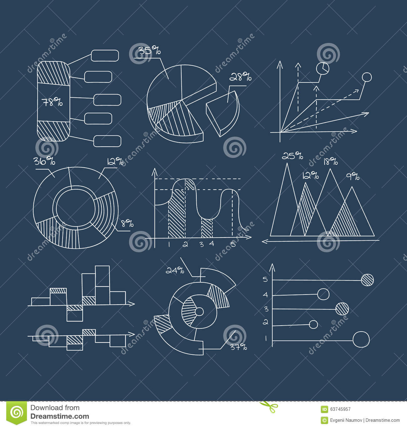 Graphs pie charts and diagrams hand drawn stock vector royalty free vector download graphs ccuart Images