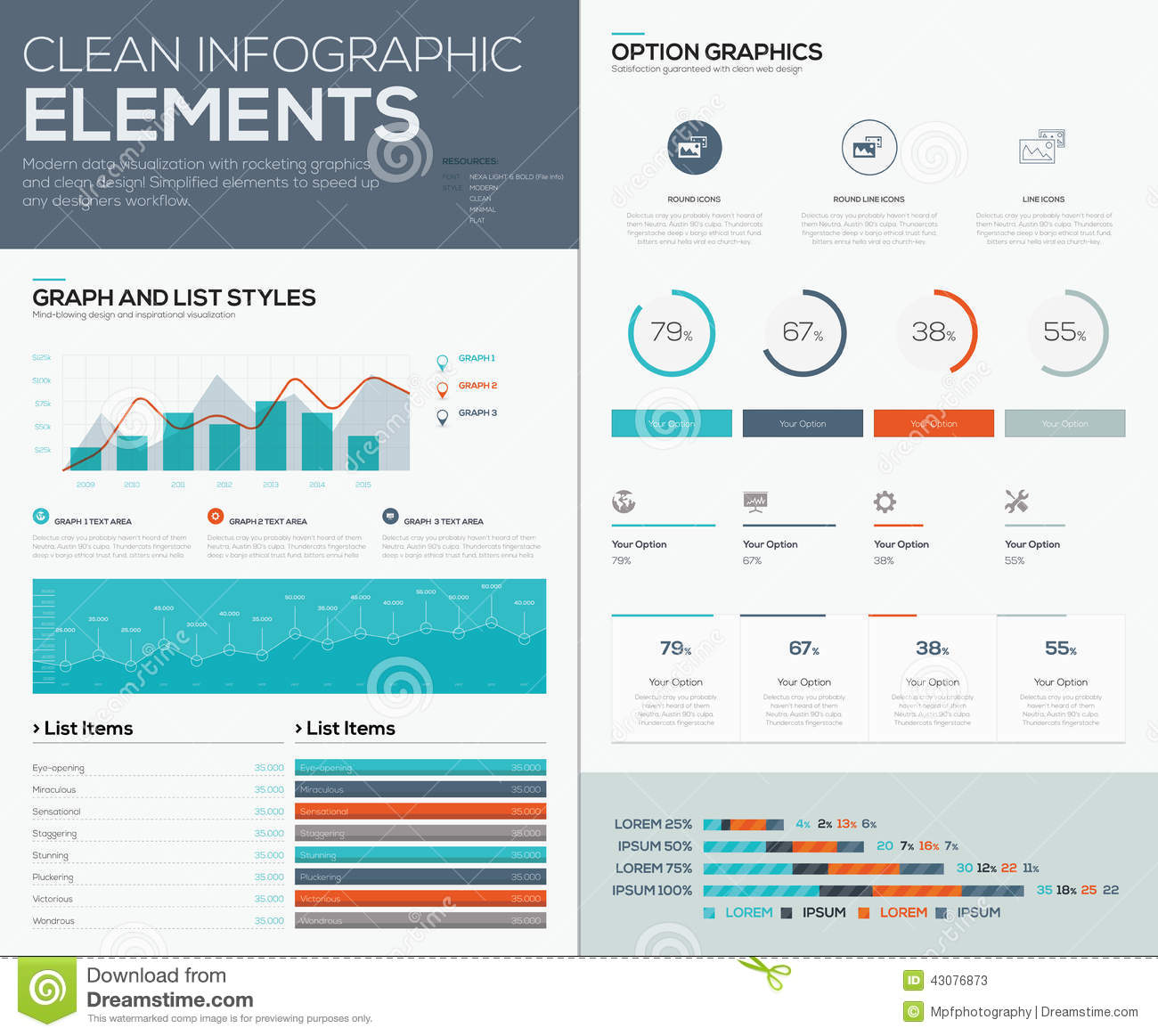 Graphs And Pie Charts For Infographic Vector Data Visualization ...