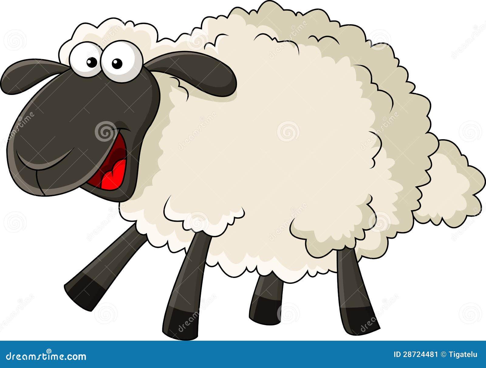 Grappig schapenbeeldverhaal