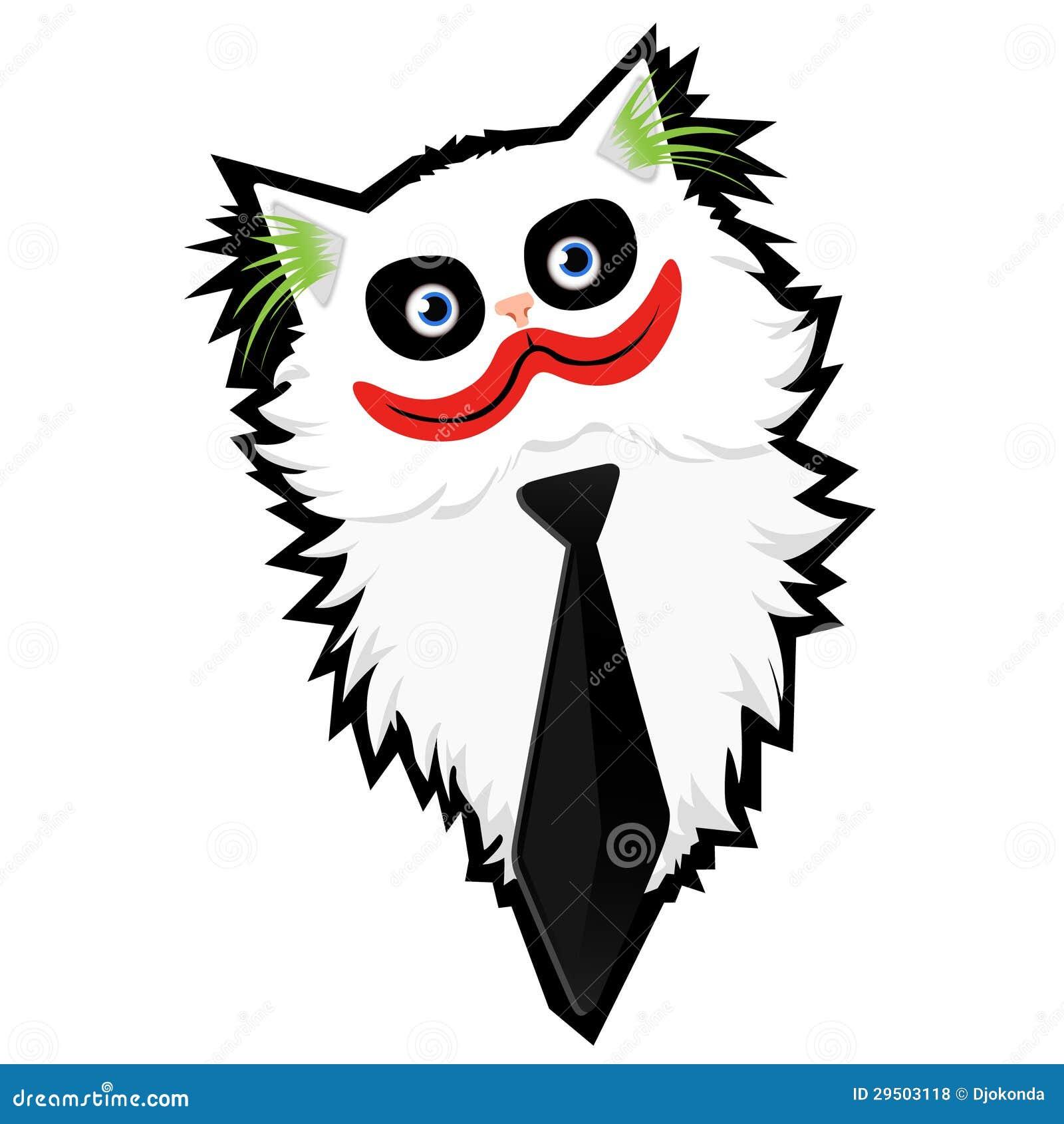 Grappige beeldverhaal kat-Joker