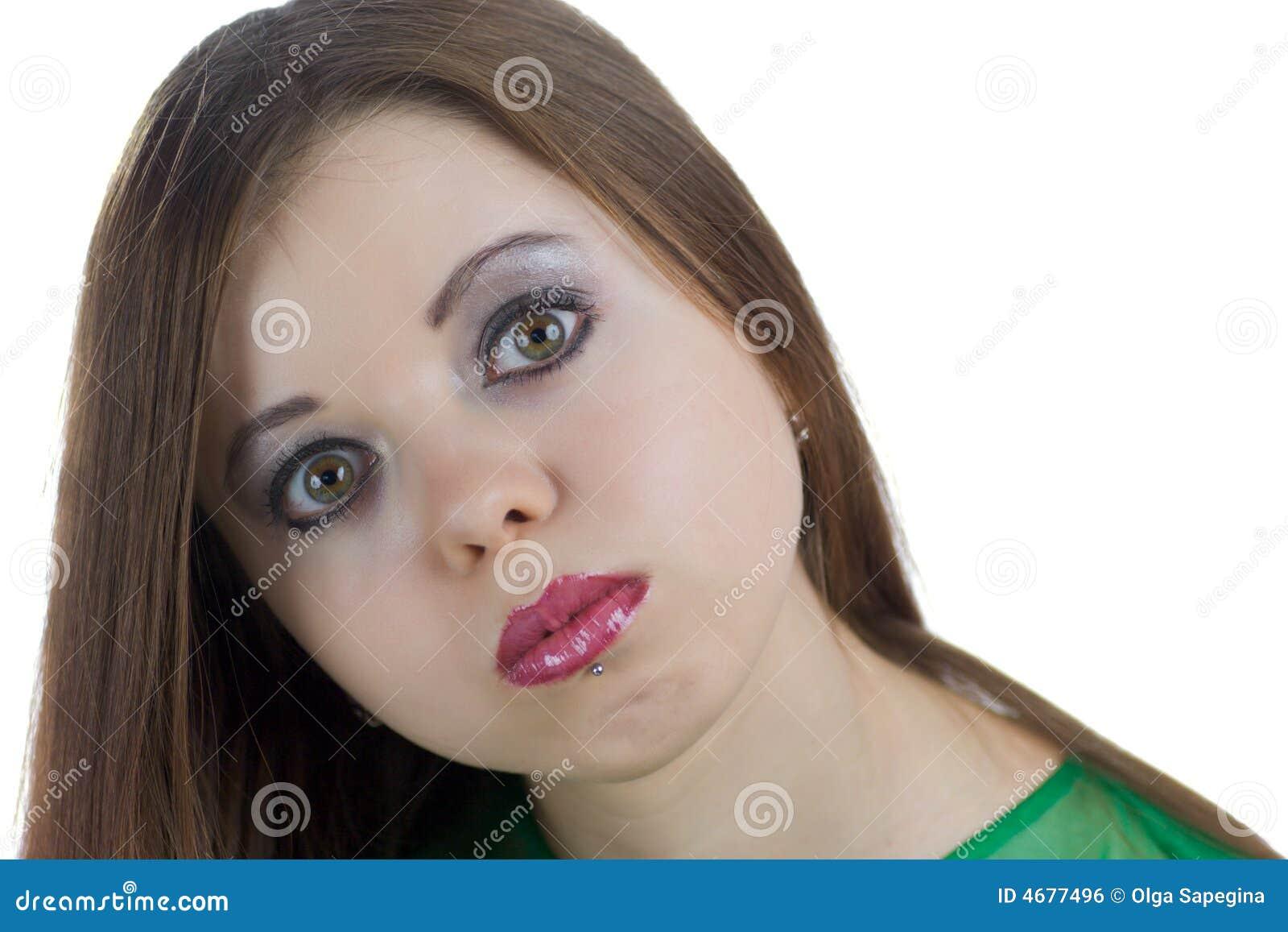 Grappige jonge vrouw