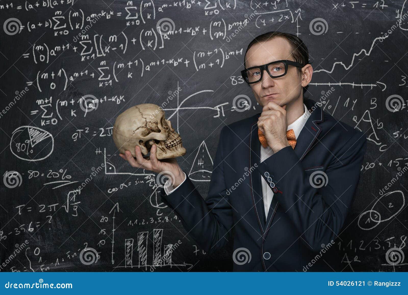 Grappige slimme nerd