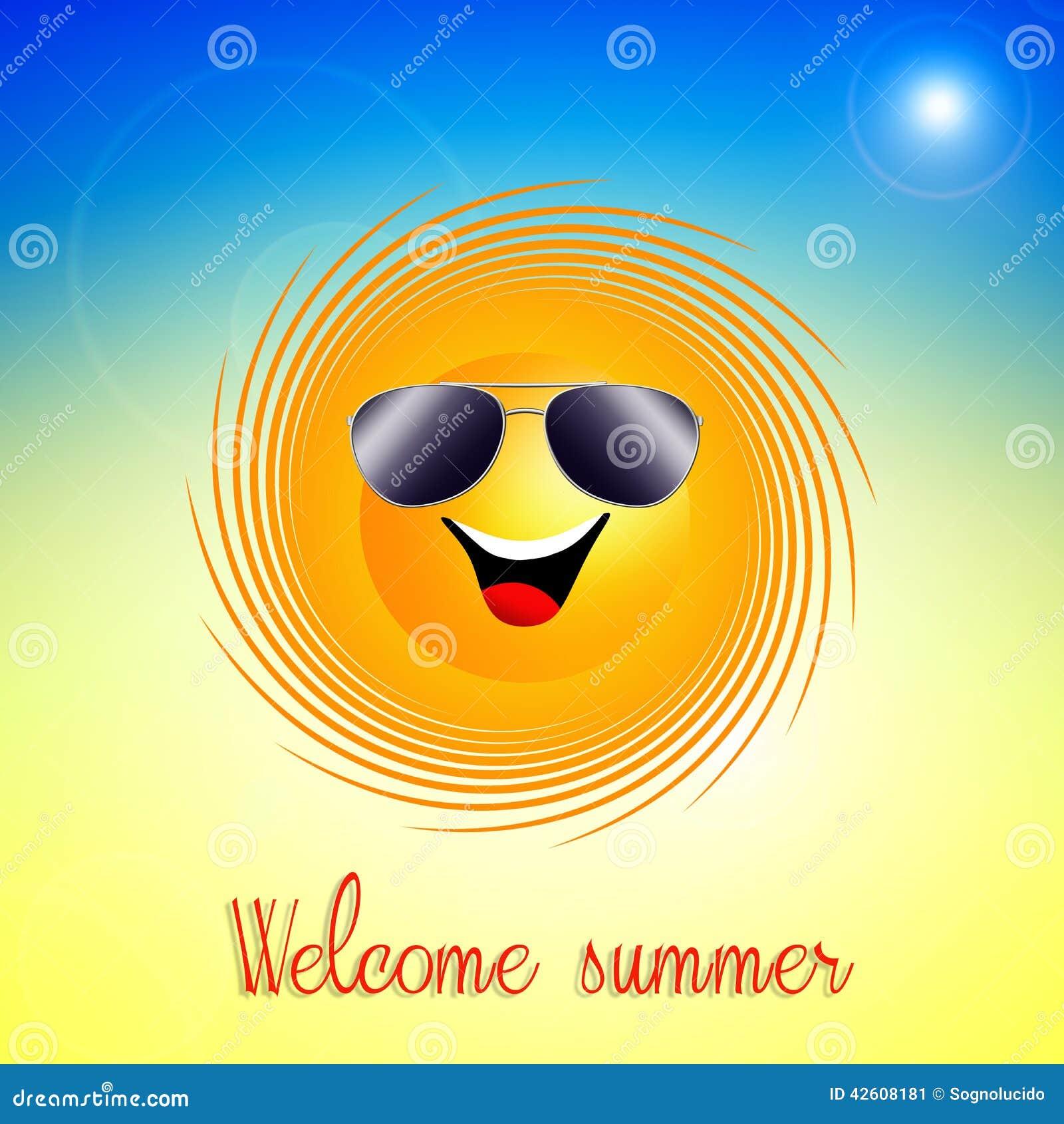 Grappige Citaten Zon : Grappige zon voor zomer stock illustratie