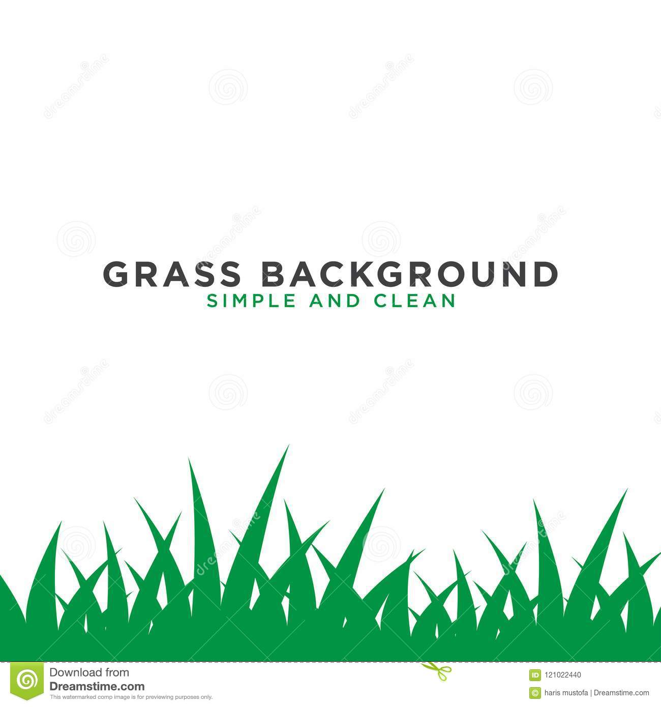 Grass Background Design Template Stock Vector - Illustration of