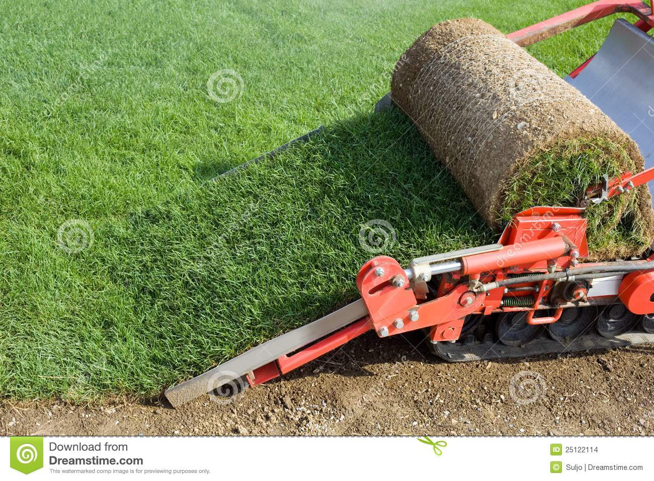 Grass baling machine stock images image 25122114 - Gazon synthetique solde ...