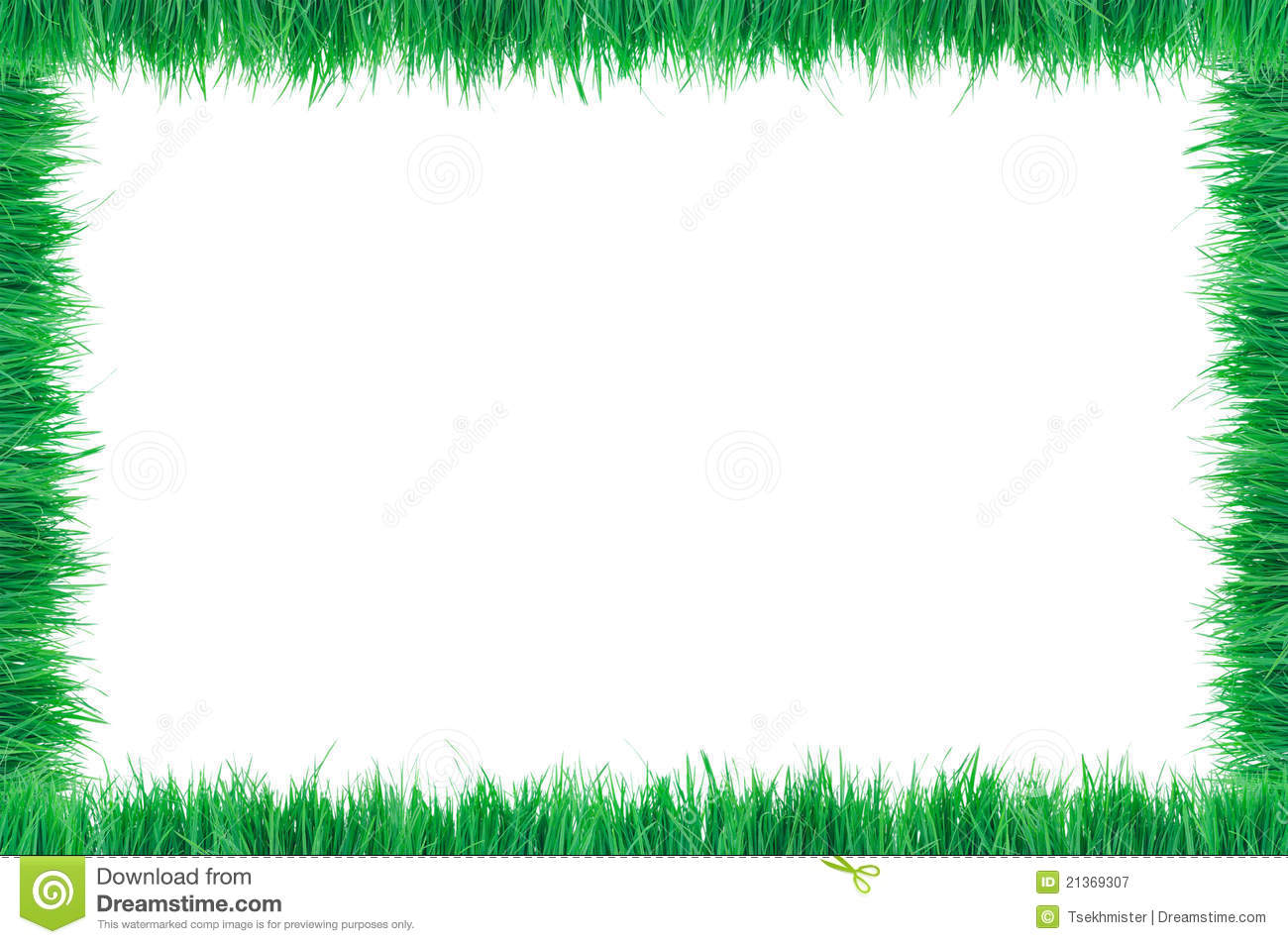 Grass border stock image image of natural green for Best grasses for borders