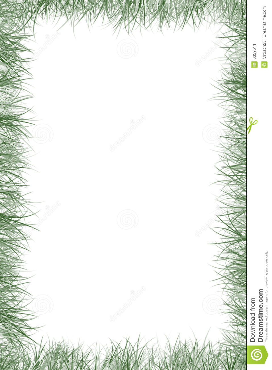 Grass border stock illustration image of border white for Best grasses for borders