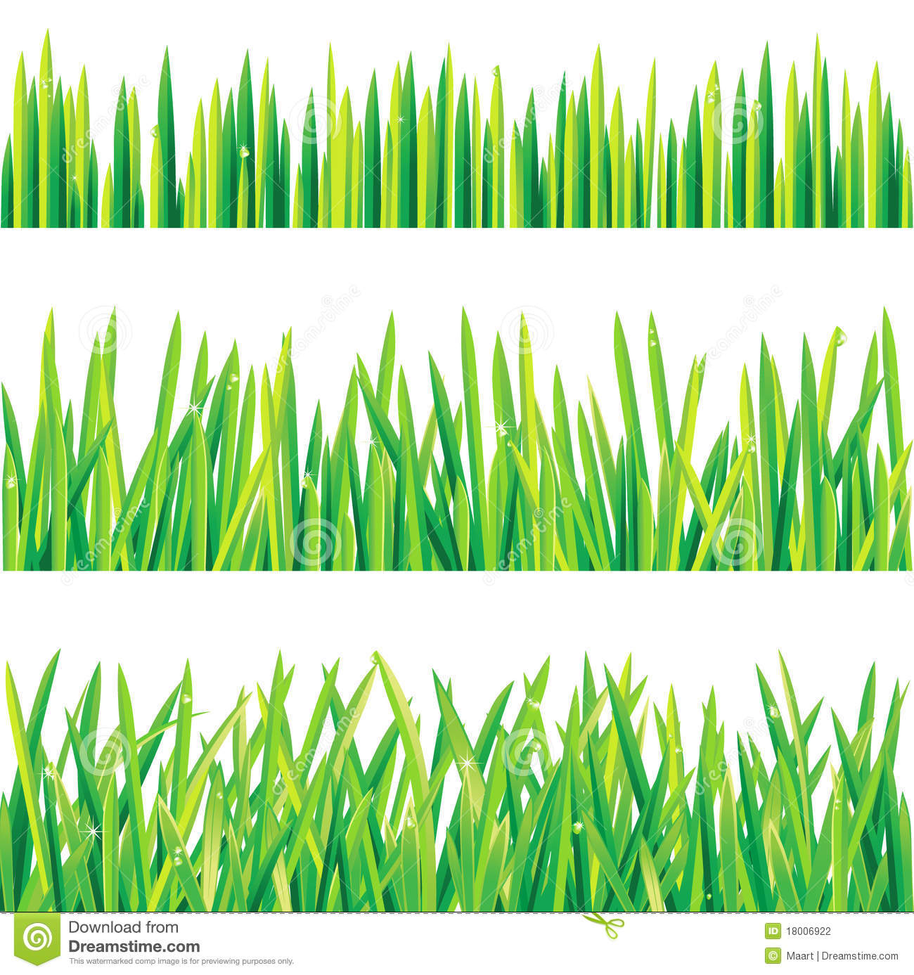 Grass borders stock vector image of lush drop growth for Best grasses for borders
