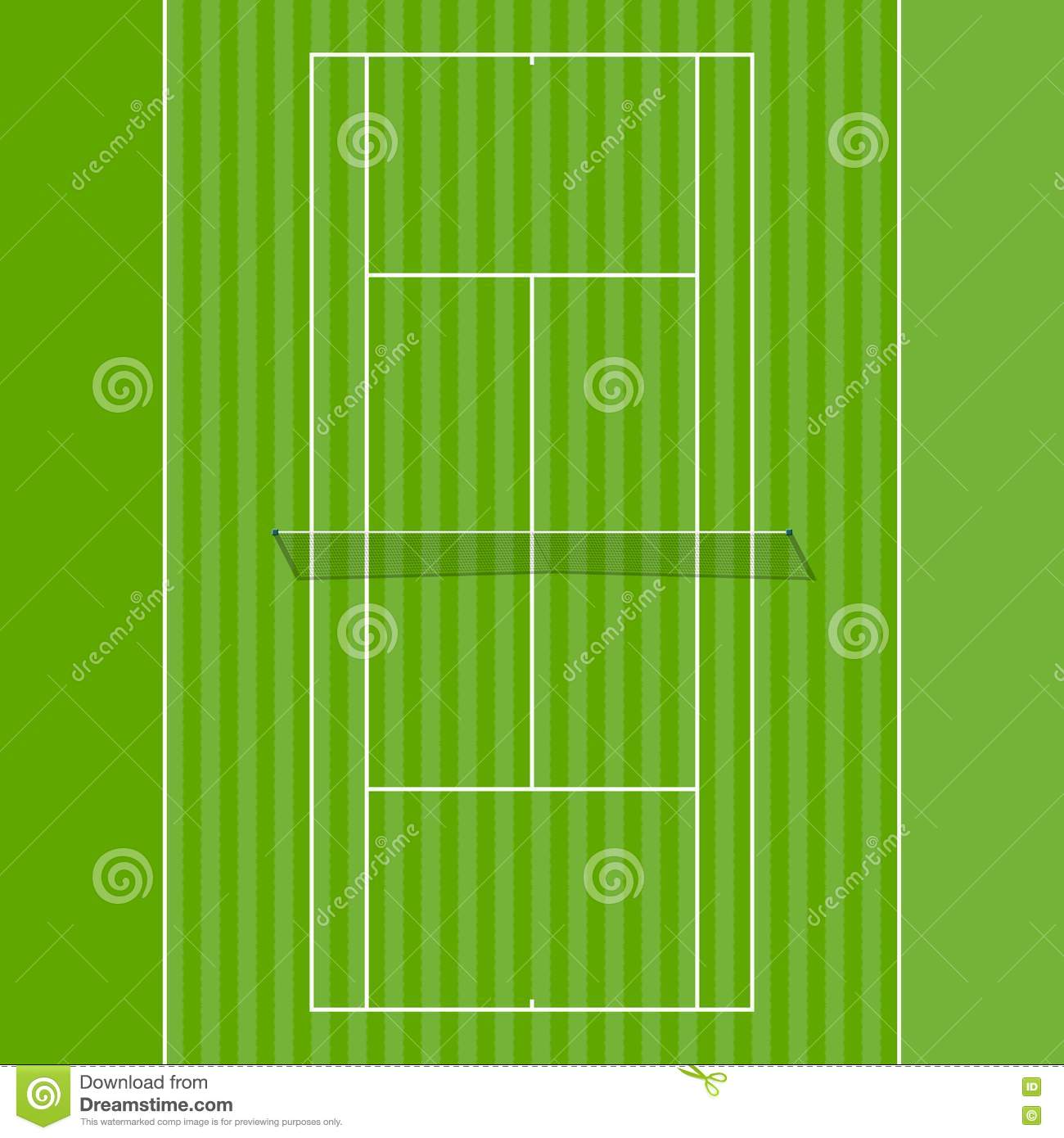 Grass Court Stock Vector Illustration Of Outdoor Line