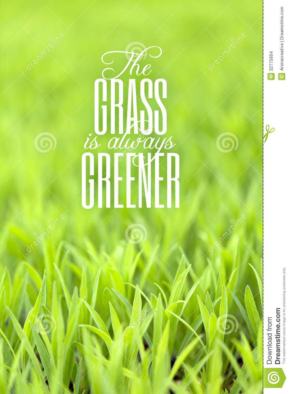 the grass is greener on the So what if they have greener grass the grass is more readily flammable on this side, which could be useful in an emergency it also takes much less time and effort in upkeep--if nothing&#039s growing, no yard work.