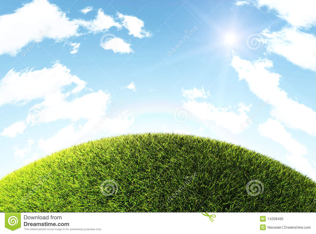 Grass Hill stock image. Image of background, field, nobody ...