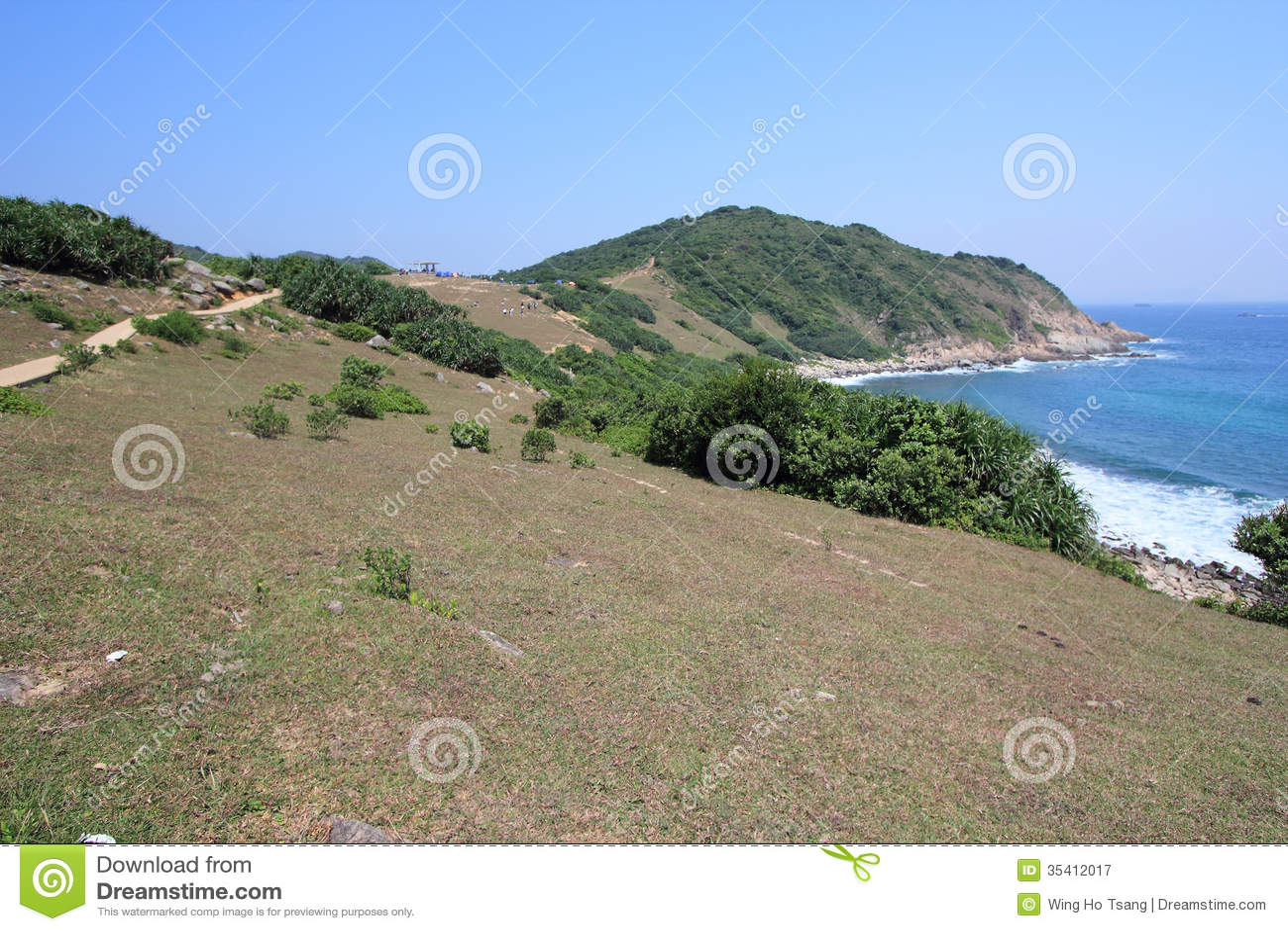 Coast, vegetation, headland, promontory, bay, hill, terrain, cape, sky, coastal, and, oceanic, landforms, shore, sea, land, lot, e