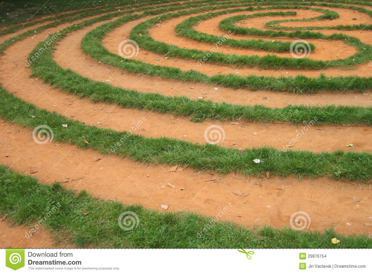 Grass Labyrinth Stock Images Image 29876754